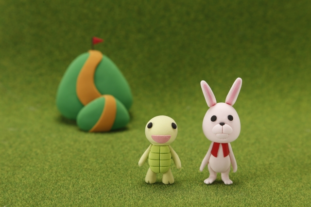 童話とは少し違う、ウサギとカメの話